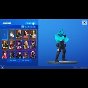 Fortnite account 23 skins 1500 vbuks lev 21
